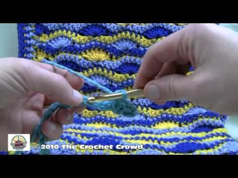 How To Crochet Wavy Shell Stitch Afghan Part 1