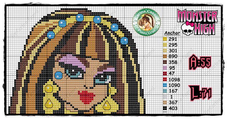 Monster High pattern by Carina Cassol - http://carinacassol.blogspot.de/