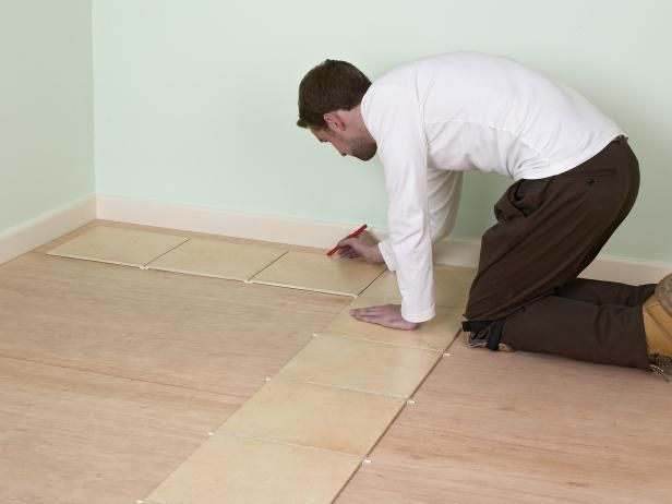 How To Install A Tile Floor Tile Floor Flooring Ceramic Floor Tiles
