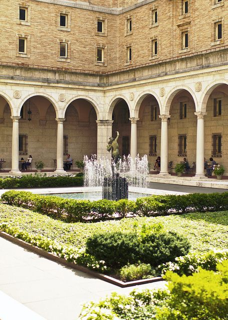 Courtyard of Boston Public Library, MA