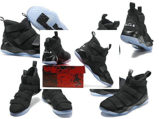Latest LBJ Sneakers Cheap Newest 2017 Nike Lebron Soldier 11 XI Black White