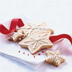 Christmas Sugar Wafers with Vanilla Icing Recipe | MyRecipes.com