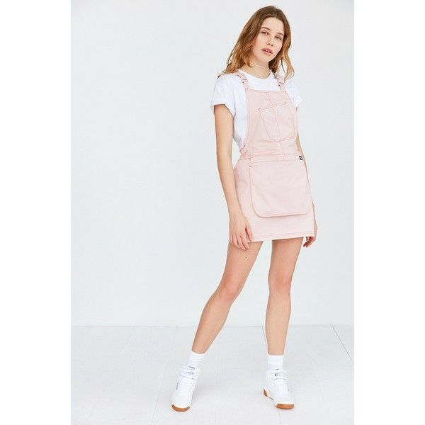 Dickies X UO Bib Brace Mini Dress ($79) found on Polyvore featuring women's fashion, dresses, pocket dress, short dresses, dickies, dickies dress and bib dress
