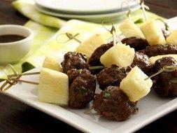 Paleo Teriyaki Meatball Appetizers