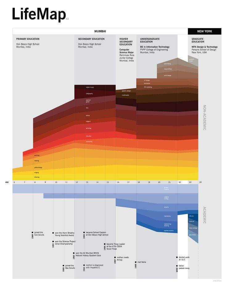 """If CV's could be data visualizations: The """"LifeMap"""" #infographic http://bit.ly/2mvUxoF"""