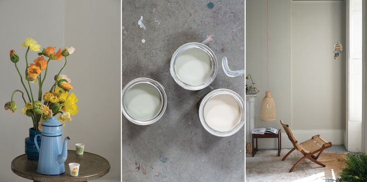 Drop Cloth is a nod to painters and decorators; a drop cloth is the traditional name for the indispensable painter's dust sheet which this color embodies. It reads as neither too yellow, nor too grey, and is the perfect contrast to the slightly lighter neutral family.