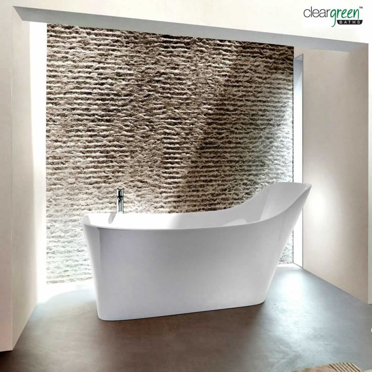 Excellent feature wall!  Clearwater Nebbia Natural Stone Ergonomic Bath : ukBathrooms