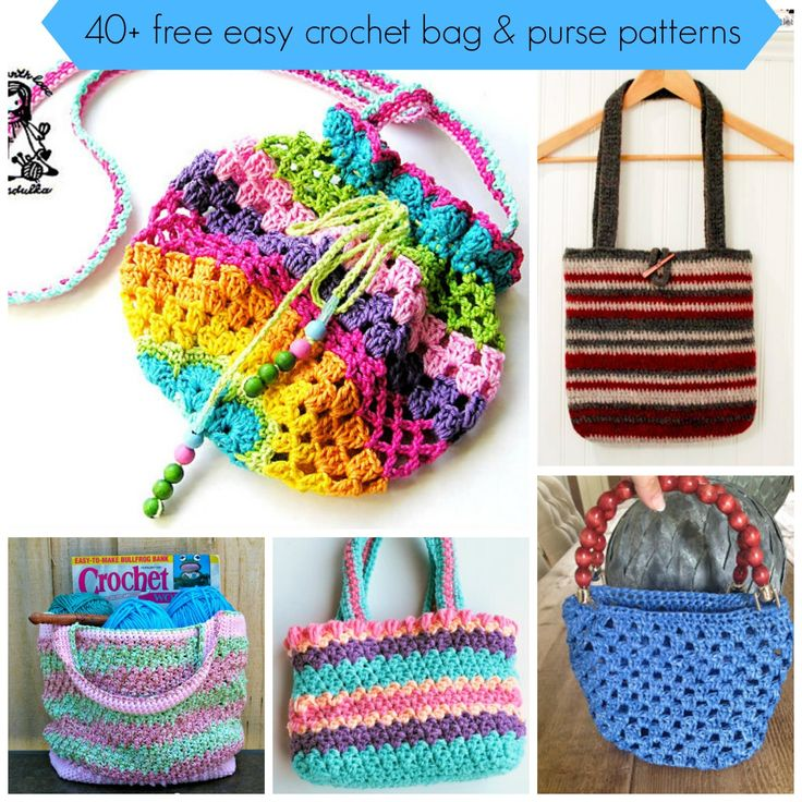 40+free easy crochet bag and purse pattern tutorial