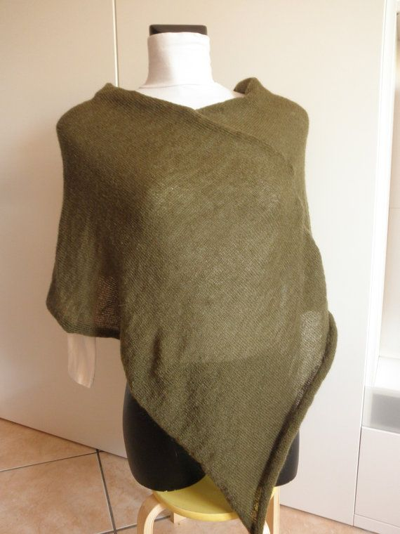 Rotten green poncho mohair wool yarn by megghyshop on Etsy