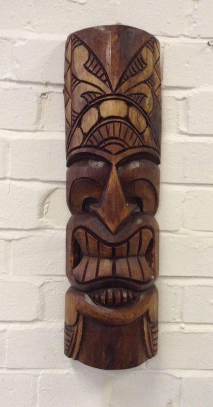 Fairtrade Giftware Natural Wood Wiki Tiki Mask