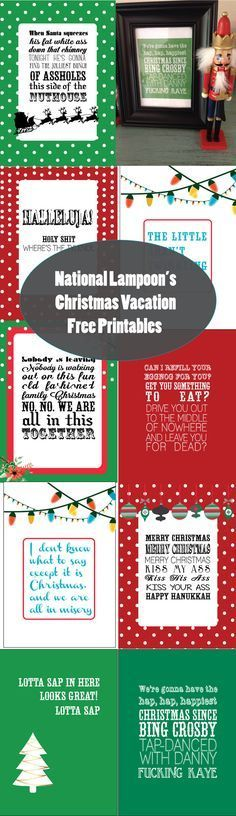 National Lampoon's Christmas Vacation Free Holiday Printables {SohoSonnet Creative Living} Quotes from Clark Griswold and more