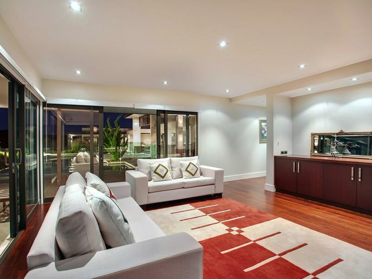 Contemporary Home in New Zealand White sofas