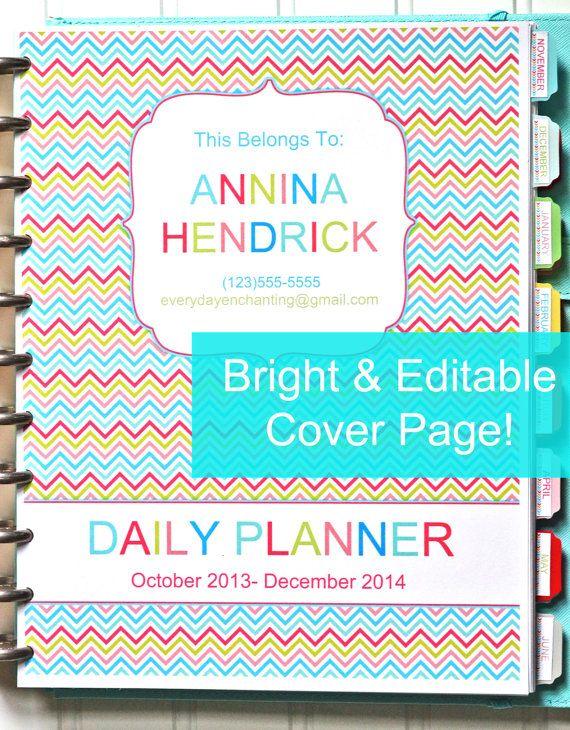 EDITABLE 20132014 Printable Daily Planner by EverydayEnchanting