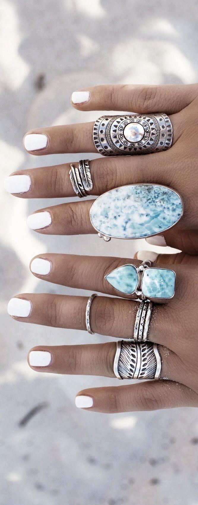 Boho rings style