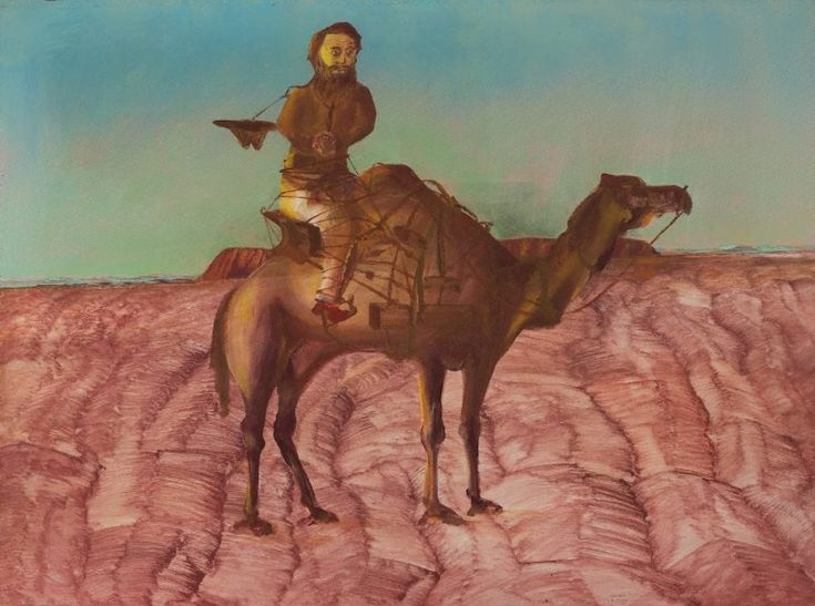 An image of Burke and Wills expedition, 'Gray sick' by Sidney Nolan