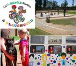 Cats Bicycles and Parties - Randfontein is a secure and fun filled venue offering a huge amount of activities to keep the children entertained. The venue can host your party in their unique party bus or set up in the wendy house.  The Venue boasts a huge bike track for the little ones to race around. Cats Bicycles also has braai facilities available.