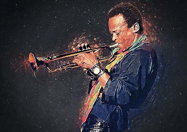 CANVAS Miles Davis Performing in Nightclub Print Art POSTER