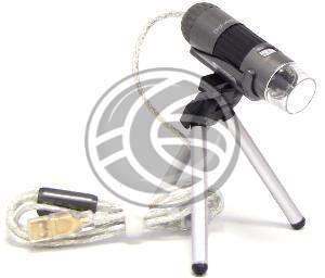 Microscopio digital  de resolución 1.3 Mega-Pixels y conectable al PC a través de puerto USB. Se trata de un dispositivo ergonómico a la mano y que se enfoca al objecto a visualizar de forma ampliada.