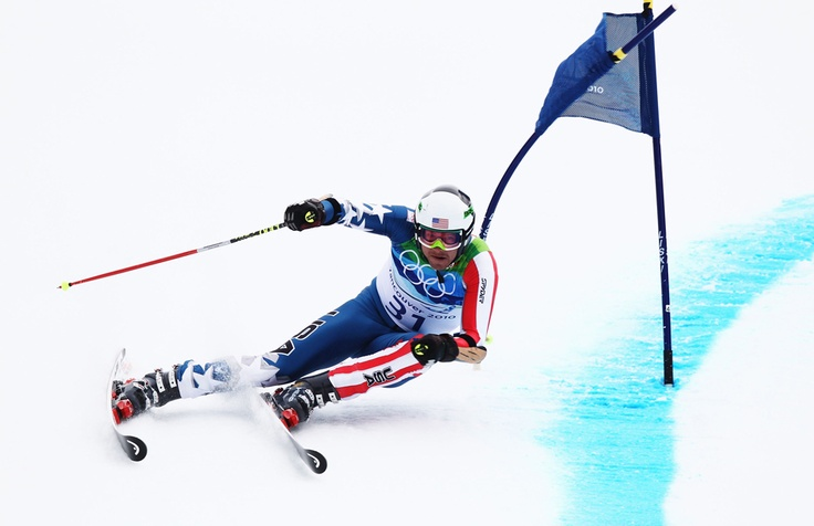 Bode Miller competing at the 2010 Vancouver Olympic Winter Games.