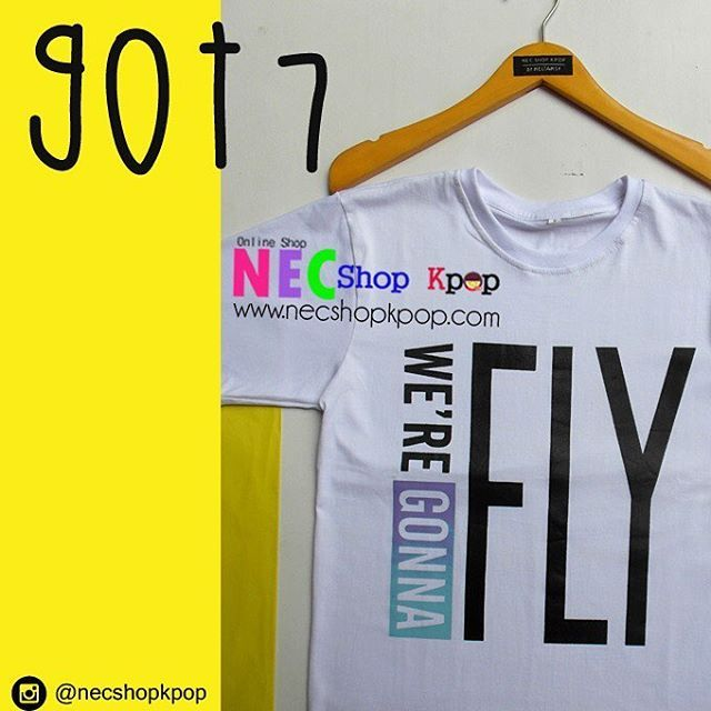 READY STOCK (stok terbatas) Avaialable size : M cowo dan L cewe lengan pendek #NecReadyStok 👈 #nec_got7 👈 Product Code : Got7 We Are Gonna FLY T-SHIRT Price : IDR 75.000 / USD 7/ MR 24 For long sleeve (+IDR 8.000) Material : Cotton Combad Sablon...