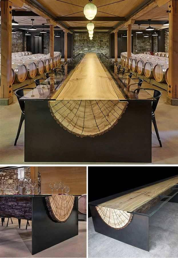 20 Of The Most Unique Desk And Table Designs Ever   2 Log Table .5