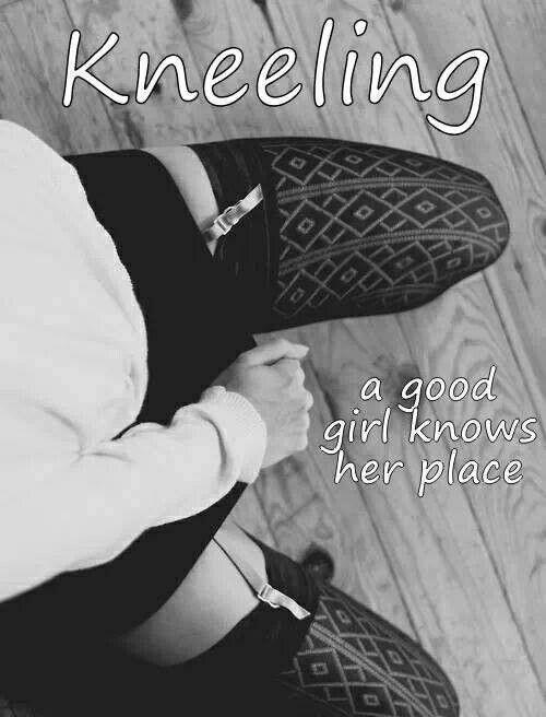 Kneeling… bdsm master slave via pinterest