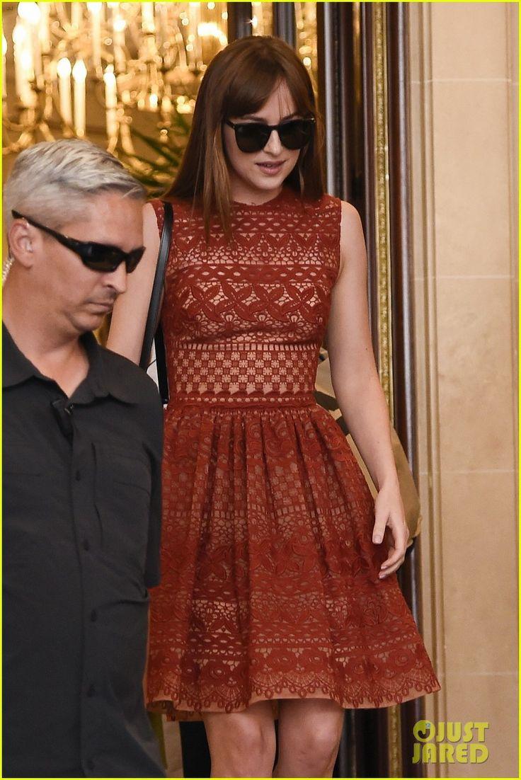 Dakota Johnson & Jamie Dornan Take 'Fifty Shades' to Paris | dakota johnson jamie dornan take fifty shades to paris 09 - Photo