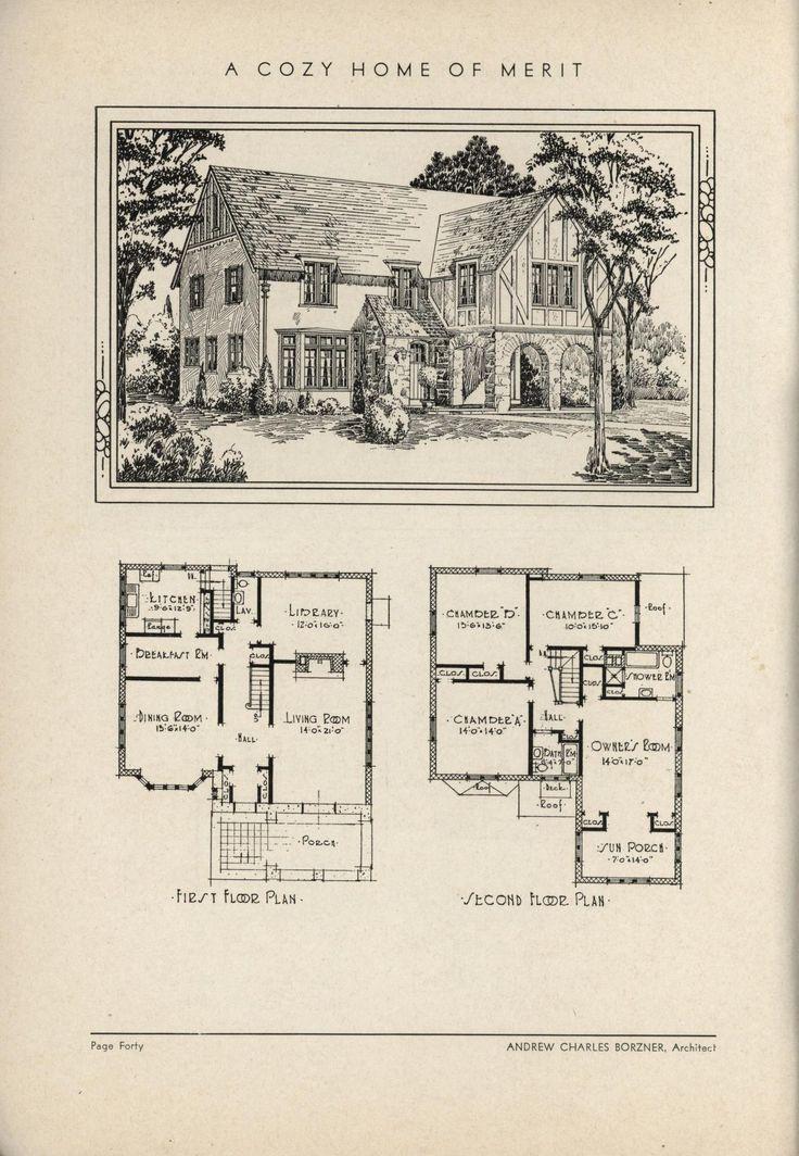 505 best VinTagE HOUSE PlanS1930s images on Pinterest Vintage