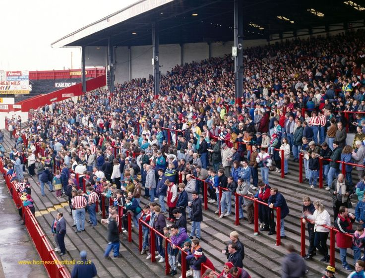 _0747 Filling up, Stoke City,England year1992 by Stuart Roy Clarke – About an hour before kick-off.