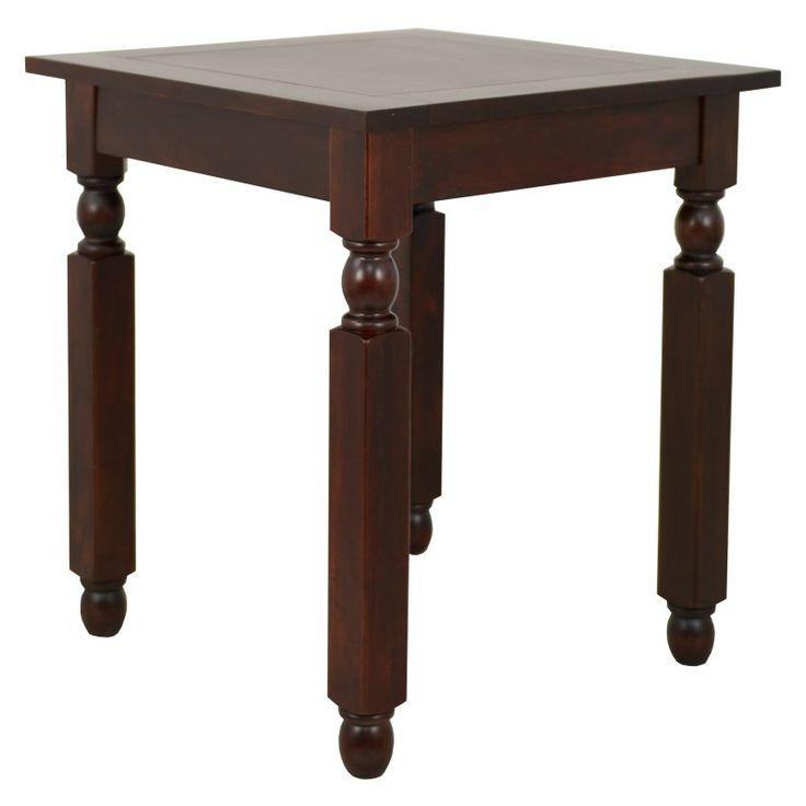Dark Mahogany End Table - FR6309, Decor Therapy