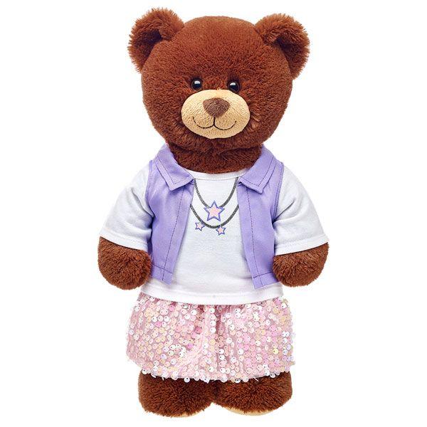 Purple Vest Skirt Outfit 2 pc. | Build-A-Bear
