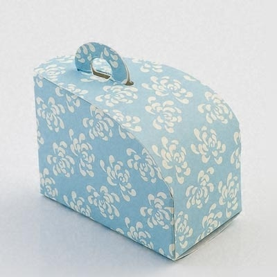Vintage Blue Dome Cake Box - Pack of 10 by Italian Options £4.99 - The Wedding Gift Company