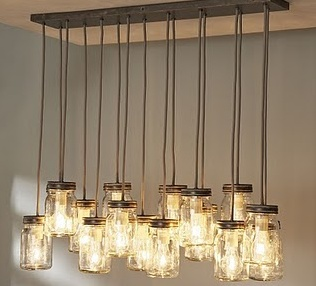 Do it yourself mason jar chandelier
