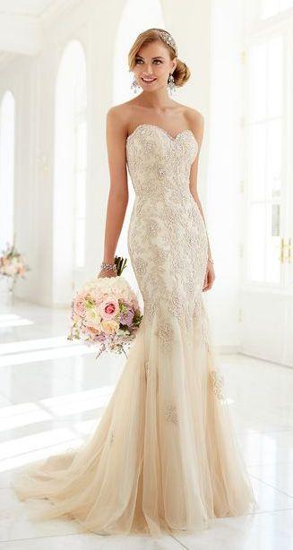 Will a champagne wedding dress match