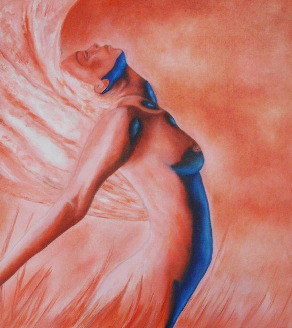 SALE - Wind Beneath My Wings Nude Oil Painting by k Madison Moore - pinned by pin4etsy.com