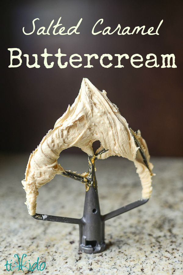 Salted caramel buttercream icing is AMAZING!  The perfect balance of salty and sweet, with a rich depth of flavor.