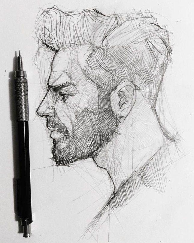 Drawing Sketch Male Men Boy Side Profile Head Art Sketches Sketches Profile Drawing