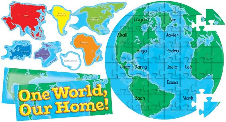 Our Earth Puzzle Bulletin Board Se