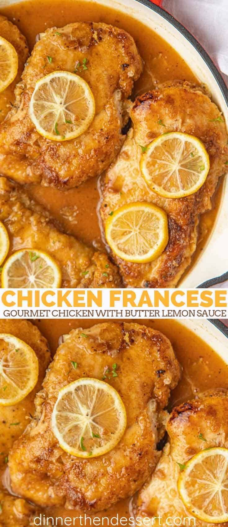 "Chicken Francese is an easy ""gourmet chicken"" recipe, pan fried in an egg wash w…"