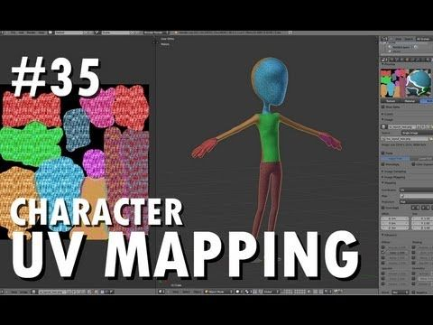 Blender 2.6 Tutorial 35 - Character UV Mapping - YouTube