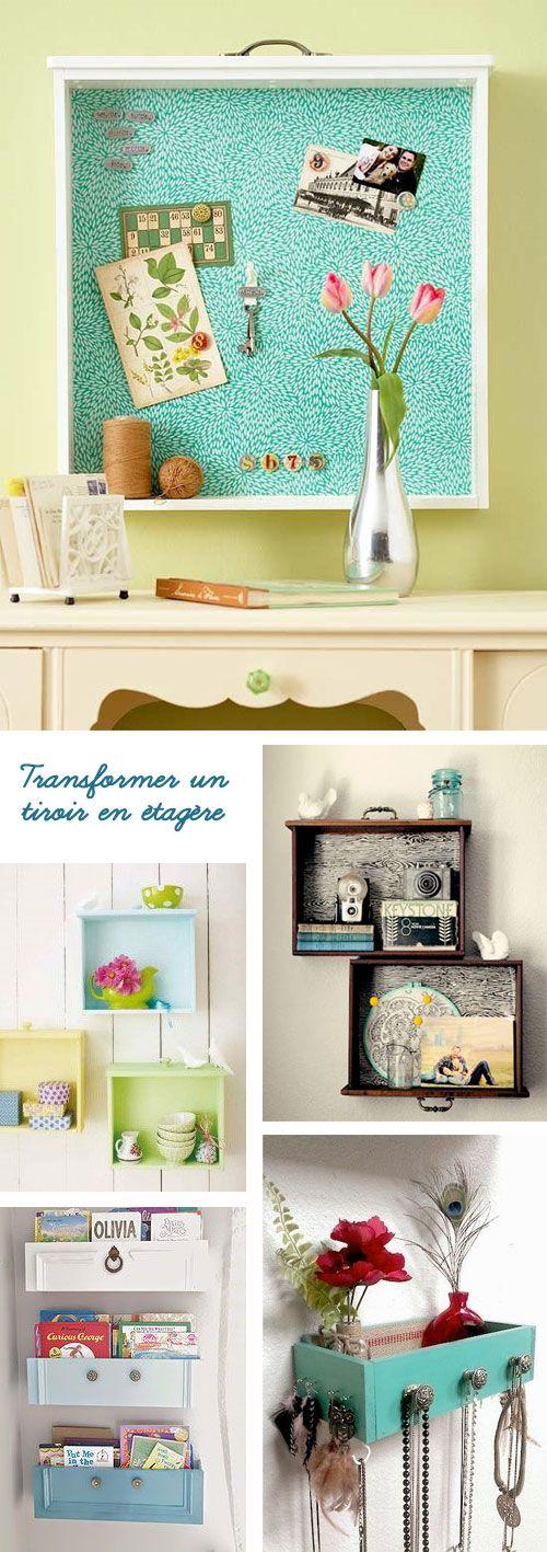 My Wonderwall by Marie - Transformer des tiroirs en étagères