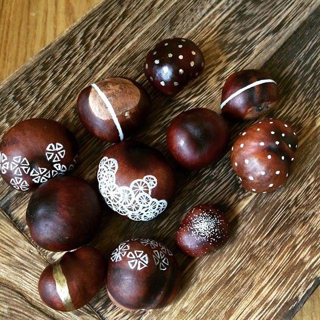 #efterår #fall #chestnut #kastanjer #poscapenart #posca #art #tyvstjåletidé