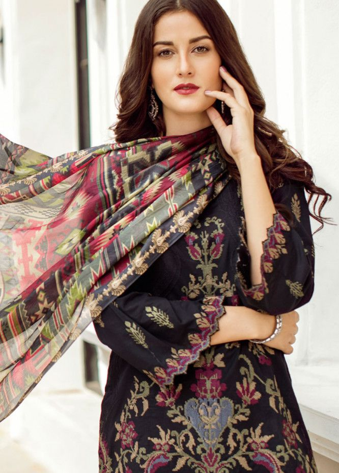 17b9a81db6 Iznik Embroidered Lawn Unstitched 3 Piece Suit IZ19L 09 NIGHTLY - Spring /  Summer Collection