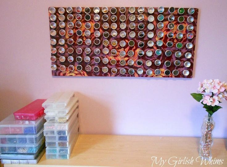 IKEA Hackers: Fabric Covered Magnet Board for Bead Organization Great for my
