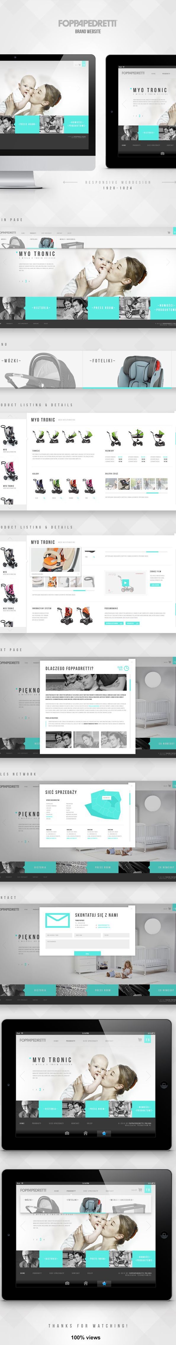 Foppapedretti - Store For Baby by Paweł Śliwa, via Behance #ecommerce