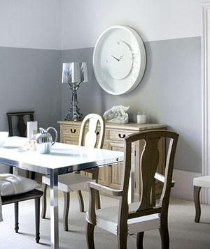 Decorating With Gray. Grey Dining RoomsDining Room PaintGray RoomsGray  BedroomBedroom WallTwo Toned ...