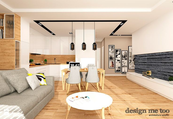 GRAZIOSO APARTAMENTY - Duży salon z kuchnią z jadalnią, styl nowoczesny - zdjęcie od design me too