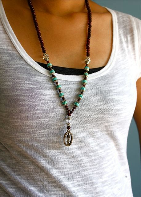 Compassion Mala Bead Necklace with by PurpleShmurpleShoppe on Etsy, $52.00
