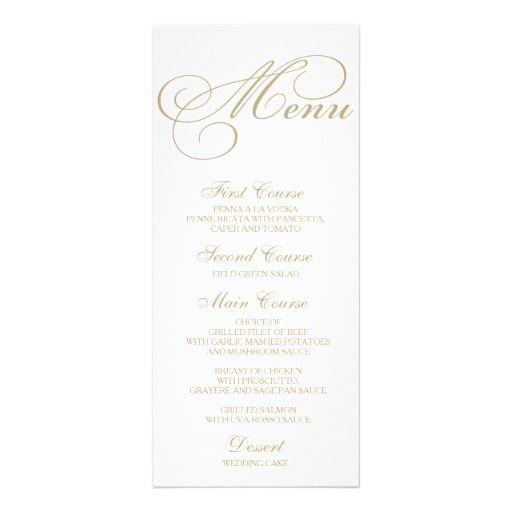 formal dinner party menu