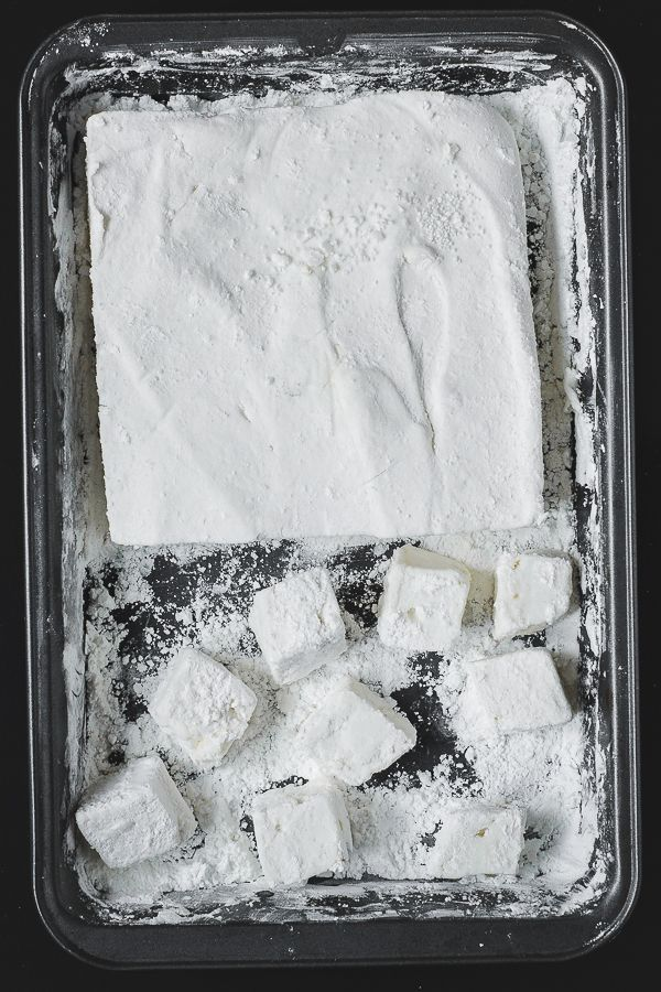 Vegan marshmallows are much easier to make than you think! These little candies will melt in your mouth and the secret ingredient to make this work is not soy protein isolate. It's chickpea brine!